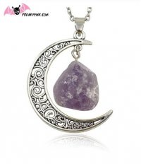 Collier Lune et Améthyste