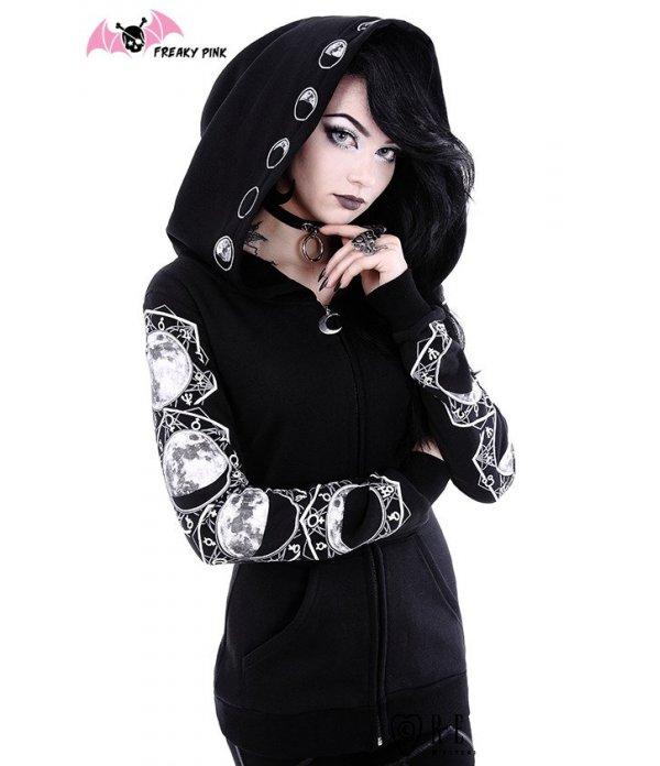 Gothic Lunar Hoodie Restyle.