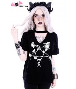 T-shirt Rose Pentagram Col V
