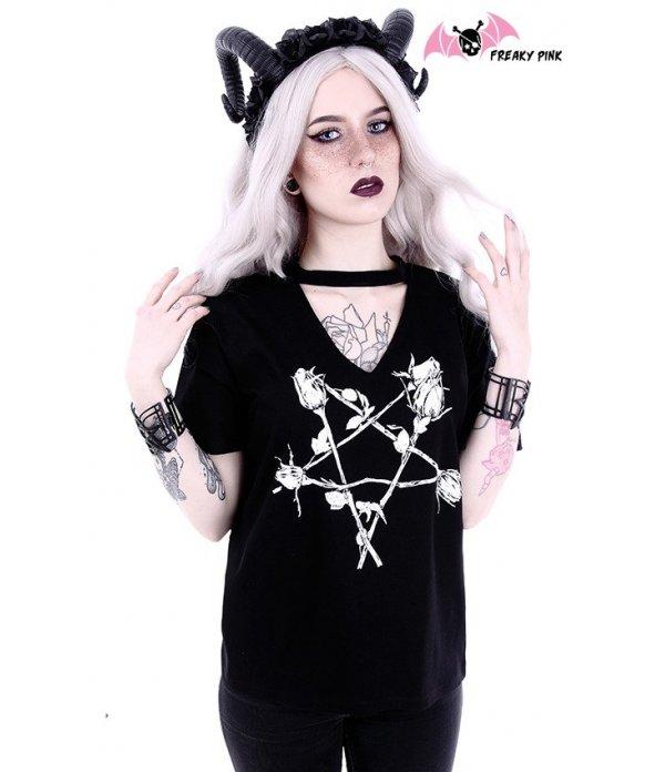 T-shirt Rose Pentagram Col V