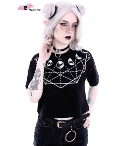 Moon Geometry Crop Top