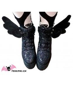 Ailes Pour Chaussures Ange Noir