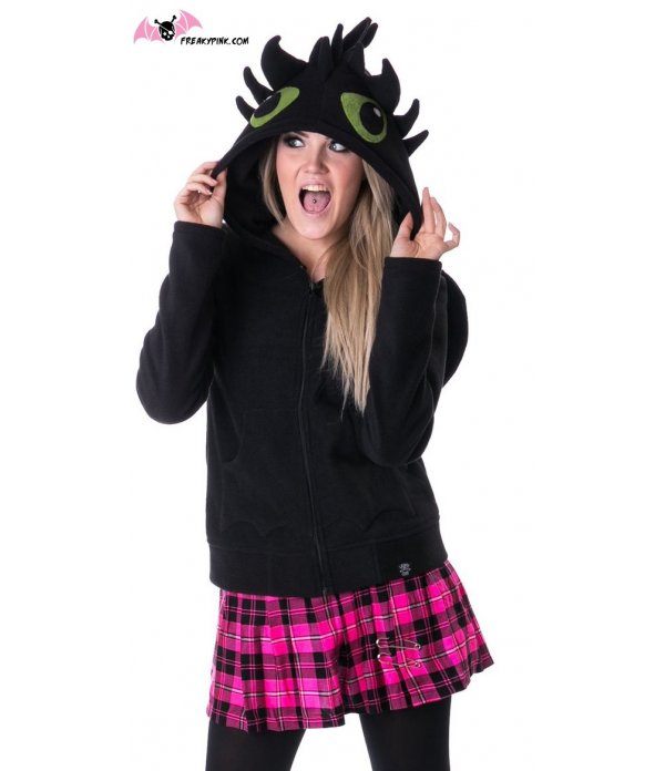 Sweat-shirt Kawaii Dragon Polaire