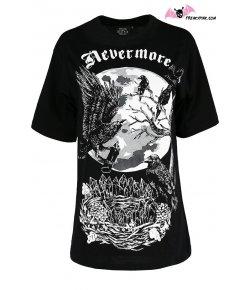 T-shirt Corbeaux et Cristaux Nevermore