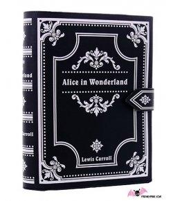 Sac Alice In Wonderland Livre Noir