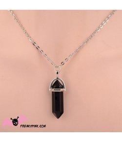 Collier cristal noir