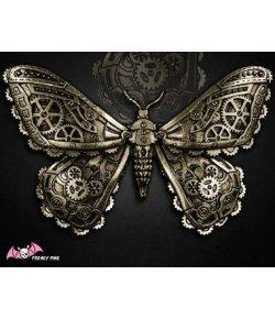 Barrette Steampunk Papillon Rouages
