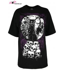 T-shirt Chat Noir et Skulls