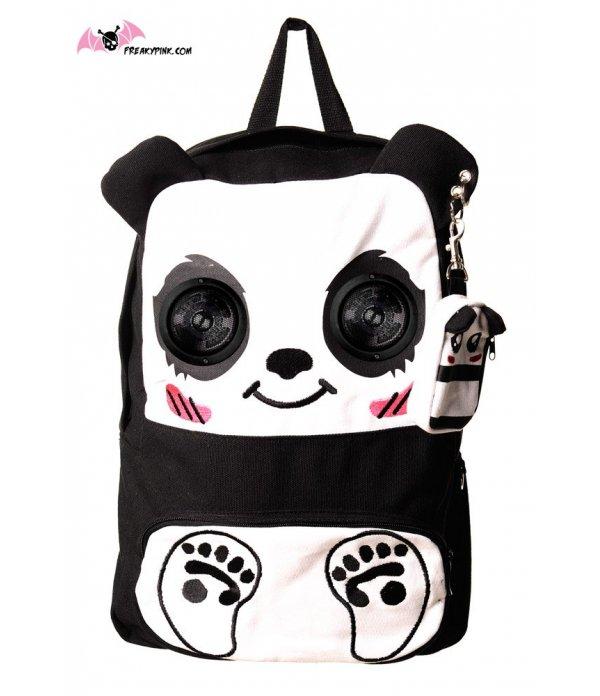 prix compétitif 437e2 2c431 Sac à dos panda avec enceintes Freaky Pink boutique kawaii manga emo rock