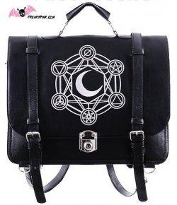 Sac Cartable Gothique Lune Noir