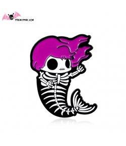 Pins Sirène Squelette