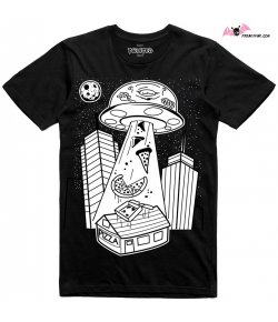 T-shirt Alien Pizza Abduction