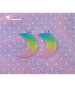 Boucles D'oreilles Lunes Pastel