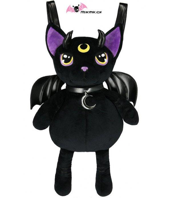 Sac à Dos Chat Démoniaque Noir et Violet