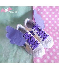 Ailes Pour Chaussures Kawaii Violet Pastel