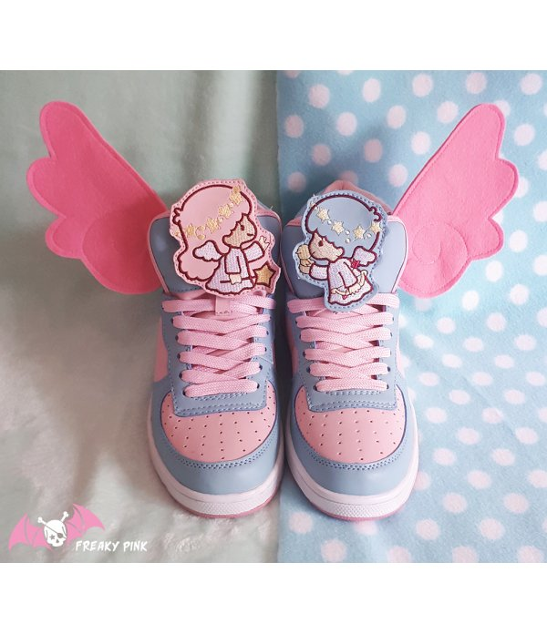 Ailes d'Anges Roses Pastel Pour Chaussures