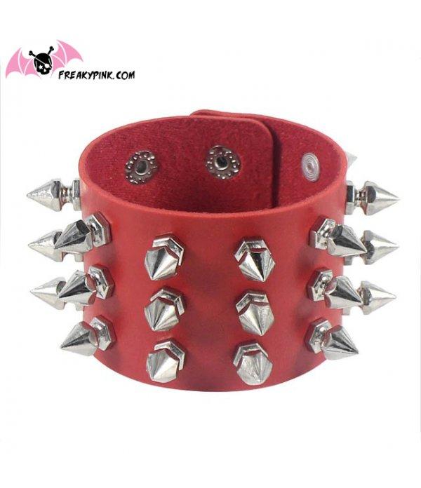 Bracelet A Piques Rouge