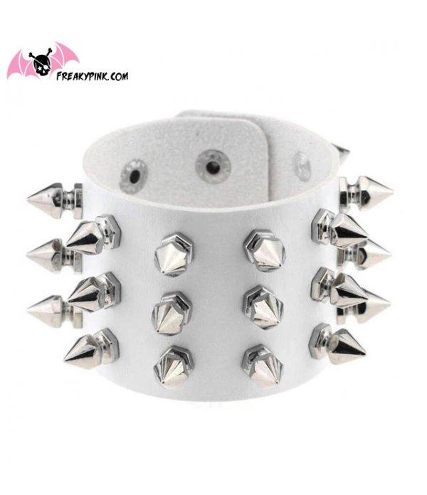 Bracelet A Piques Blanc