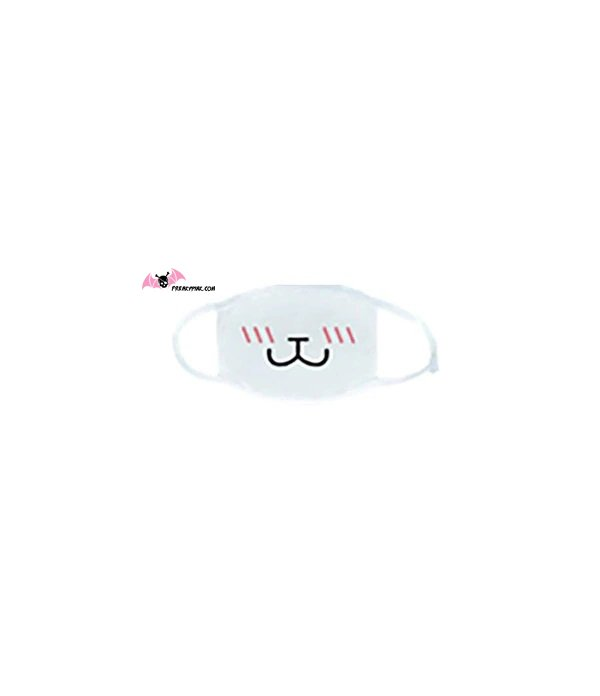Masque Sourire Chat Blanc