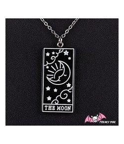 Collier Carte Tarot The Moon