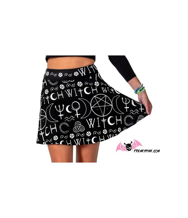 Imma Witch Skater Skirt Too Fast Apparel