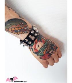 Bracelet Rock Clous et Skulls