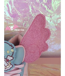 Pink Glitter Kawaii Angel Wings for Skates or Shoes
