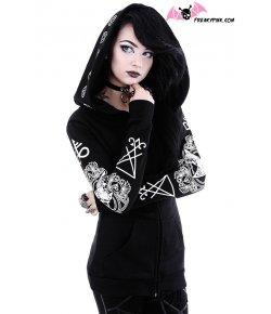 Gothic Hoodie Ritual Pentagram