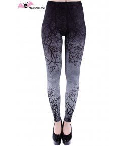 Gray Branches Leggings
