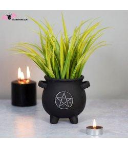 Pot de Fleur Chaudron Pentagramme