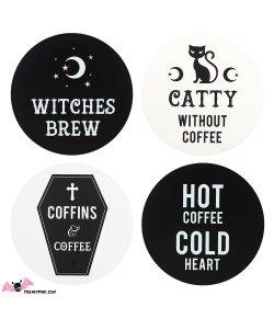 Lot de 4 Dessous de Verre Witchy
