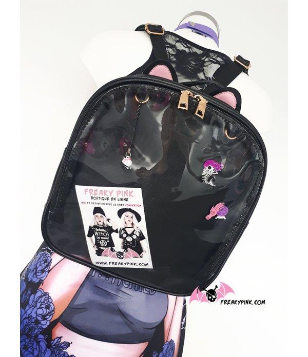 Ita Bag Sac à Dos Noir Oreilles de Chat