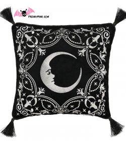 Housse de coussin lune et étoiles