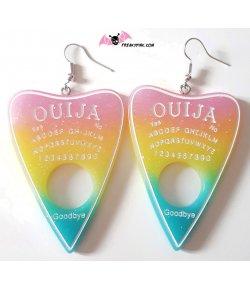 Boucles d'oreilles Ouija pastel drapeau pan
